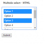 How to select multiple values from HTML select box and access it in PHP