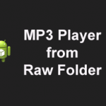 How to Play Music File's from RAW Folder to a ListView in Android